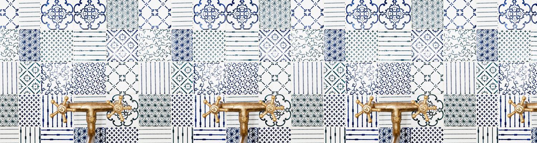 Sammensætning af farver, former og mønstre